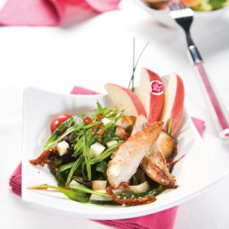 Salade fraîcheur pomme Pink Lady aux petits légumes